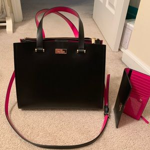 Kate Spade Purse and Wallet Pink and Black